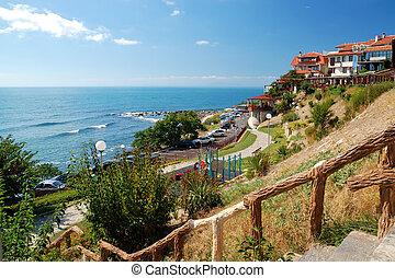 Black Sea Coast in ancient city of Nessebar, Bulgaria