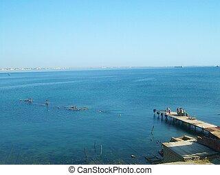 Black sea coast in Feodosia