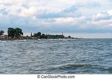 Black Sea coast in the city of Poti