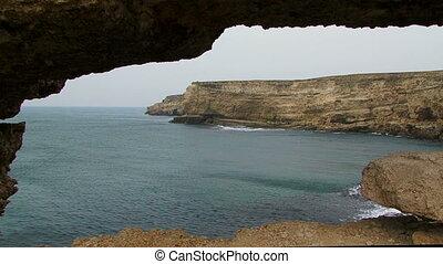 Black Sea Coast Of Magnificent Cape Tarkhankut in Crimea