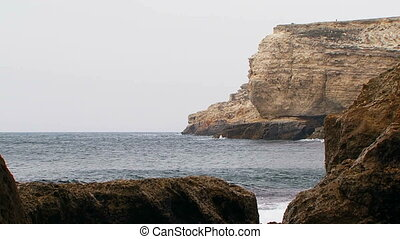 Black Sea Coast Of Picturesque Cape Tarkhankut in Crimea