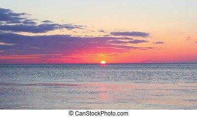 Black Sea dawn Landscape - Black Sea at dawn real time