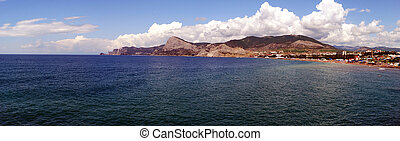 Black sea in Sudak City