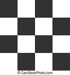 Black seamless chess background. Vector illustration.