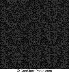 Black seamless lace pattern