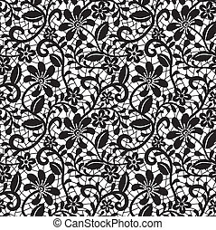 seamless lace pattern - black seamless lace pattern on white...
