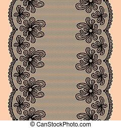 seamless lacy stripe - Black seamless lacy stripe