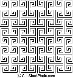 Black seamless pattern on a white background