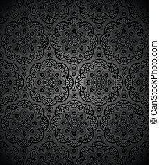 Black seamless royal wallpaper