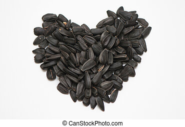 Black seeds on a white