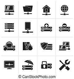 hosting and internet icons