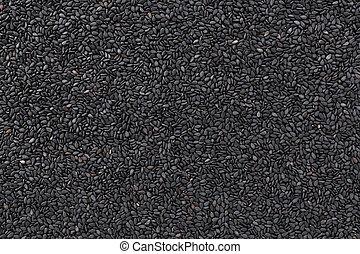 Black sesame background