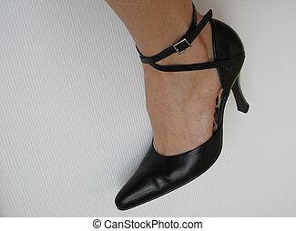 black sexy shoe