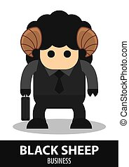 Black sheep business cartoon