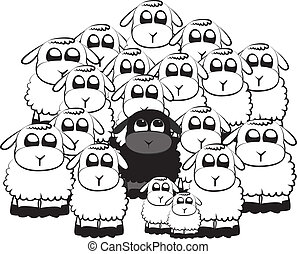 Black sheep in a crowd