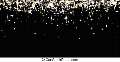 Black shining banner with stars. - Black shining banner with...