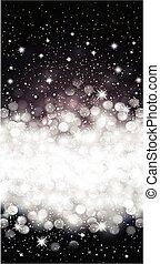 Black shiny christmas background