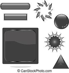 black shiny set web button