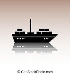 Black ship icon