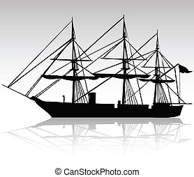 black ship silhouettes