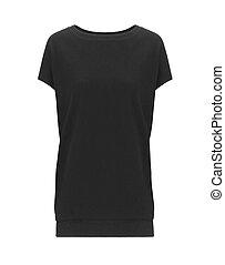 Black shirt isolated