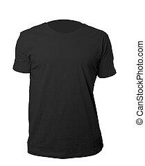 Black shirt template - black blank tshirt template isolated...