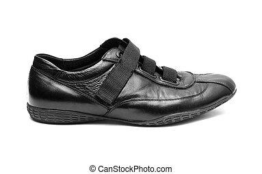 Black shoe isolated