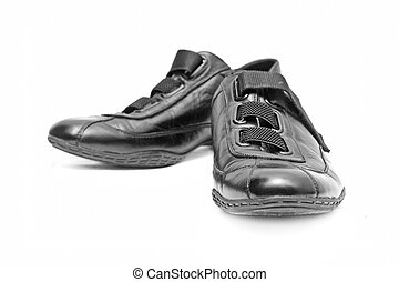 Black shoes isolated