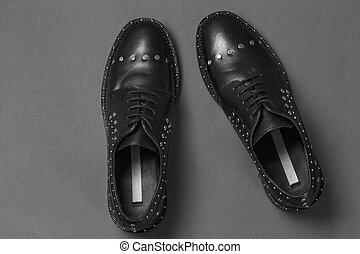 black shoes top view