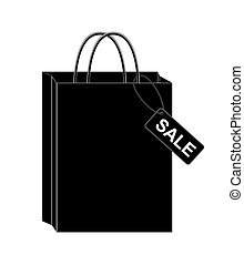 Black shopping bags. eps10 vector illustration