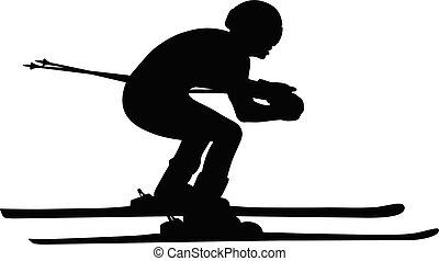 athlete skier in alpine skiing