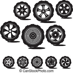 black  silhouette: automotive wheel