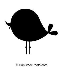 black silhouette bird animal icon