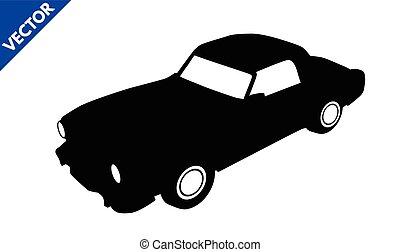 Black silhouette car icon