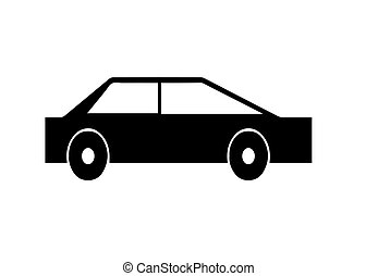 black silhouette car vector