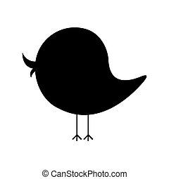 black silhouette cartoon bird animal icon