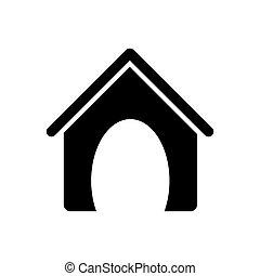 black silhouette dog animal house