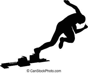 explosive start athlete sprinter