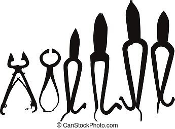 black , silhouette, gereedschap