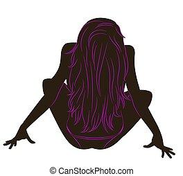 black silhouette  girl