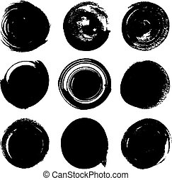 silhouette ink spots on a white background
