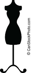 black silhouette mannequin (dummy)