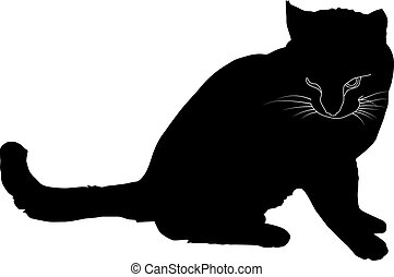 Black silhouette of a cat