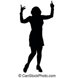 black silhouette of a dancing woman
