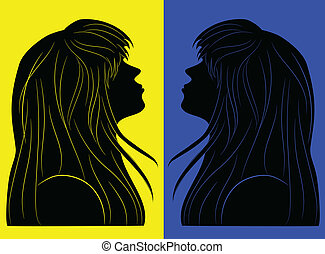 black silhouette of a girl