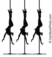 black silhouette of a girl dancing