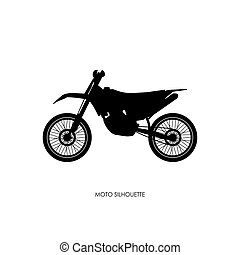 Black silhouette of a sports bike