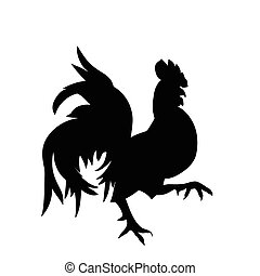 Black silhouette of an cock