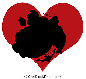 Silhouette Of An Elephant Cupid