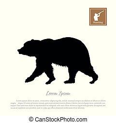 Black silhouette of bear
